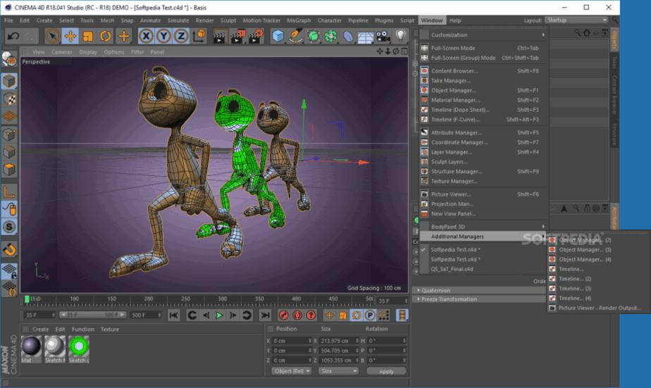 Cinema4D 3D modeling software for 2020