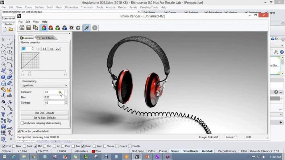 Rhino 3D Interface