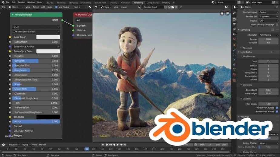 Blender free 3d rendering software
