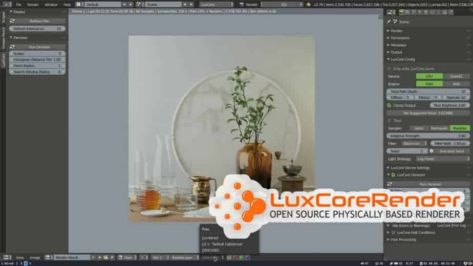 LuxcoRender is a Free 3D rendering software