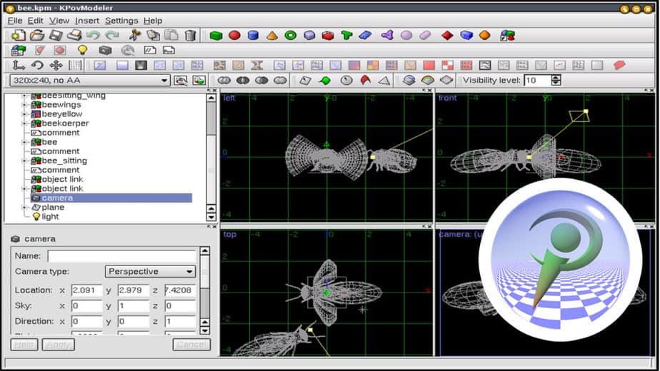 POV-ray rendering