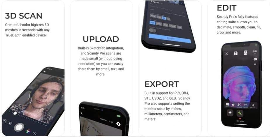 3D scanning Apps foe iOS