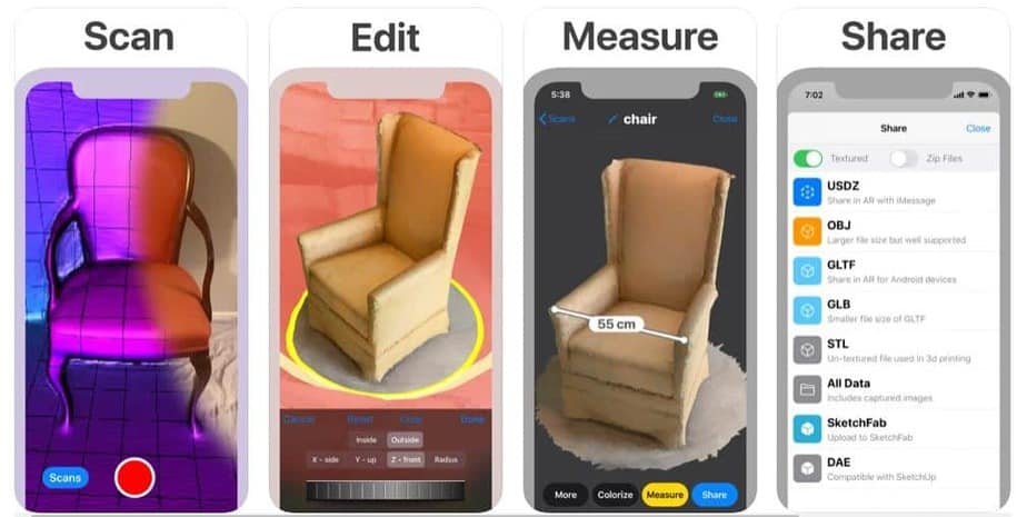 Most downloaded 3D scanning app for iOS